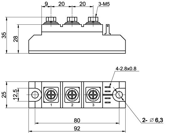 МТТ-125-12 модуль тиристорный